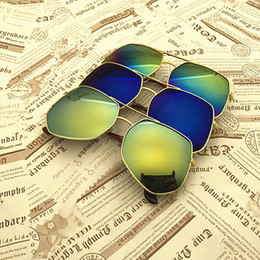 Wholesale Baby Sunglasses Wayfarer - Kids Sunblock Accessories Sunglasses Irregular shape of children Summer Baby Kids sunglasses Colorful retro sunglasses outdoor 1243