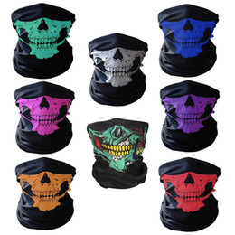 Wholesale Full Face Protector - New Fashion Motorcycle bicycle outdoor sports Neck Face Mask Skull Mask Full Face Head Hood Protector Bandanas C012