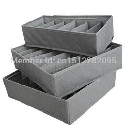 Wholesale Case Storage Bamboo - 3 in 1 Underwear Bras Socks Storage Organizer Box Bag Case Bamboo Charcoal E2shopping