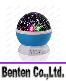 Wholesale Rotary Light Switch - Romantic Room Novelty Night Light Projector Lamp Rotary Flashing Starry Star Moon Sky Star Projector Kids Children Baby LLFA