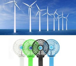 Wholesale Hand Hold Fans - Portable Mini USB Foldable Hand-held Fan Cooler Rechargeable Air Conditioner RAD