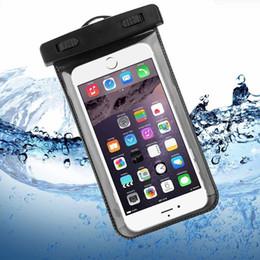 Bolsa impermeable bolsa de buceo pvc online-Bolso seco de la caja impermeable Bolsa protectora universal del bolso del teléfono del PVC con los bolsos del compás para nadar del salto para el teléfono elegante