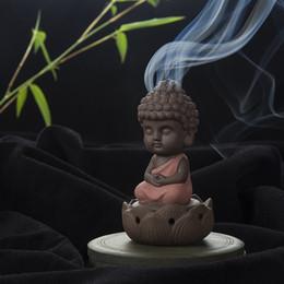 Wholesale Zen Home Decor - Wholesale- Creative Zen Cone Coil Incense Burner Holder Lotus Plate Home Decor living Room Furnace Decoration Ornament Tathagata Buddha