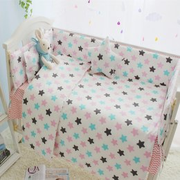Wholesale Baby Girl Crib Bedding Cheap - 7 Sizes Cheap Baby Bedding Set, Baby Bed Bumper Set, Crib Bumper Mattress Infant Bed Around Protection Colorful Stars Design