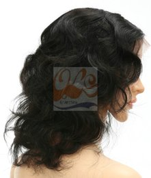 Wholesale Celebrity Human Hair - Free Shipping New GrantSea 8A Grade Front Lace Celebrity Hairstyle Body Curl Brazilian Virgin Human Baby Hair Lace Front Wig GS660027