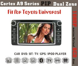 "Wholesale Universal Two Din Gps - Toyota universal 2 two Din 6.2"" Car DVD player with GPS navigation(optional),USB SD,AUX,BT TV,audio Radio stereo,Car multimedia headunit"