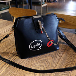 Wholesale Cheap Small Phones - 2017 new messenger bag Korean version of the wild shell package embroidered fashion shoulder bag cheap sale