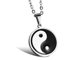 Wholesale Tai Chi Pendants - Stainless steel jewelry wholesale Tai chi bagua pendant Classical national wind restoring ancient ways man necklace