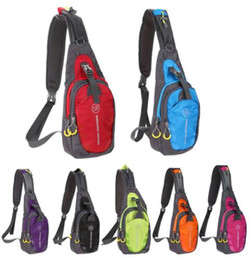 Wholesale Fanny Purple - Oxford Chest Bag Outdoor Sport Travel Hiking Shoulder Sling Backpack Pouch Functional Fanny Bags Waist Packs heuptas wandelen