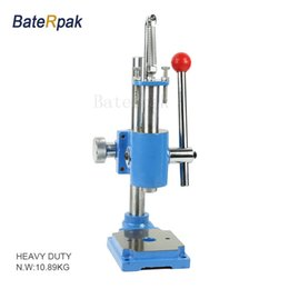 Wholesale Hand Stamped Machine - Manual press,BateRpak HIGH quality strong heavy duty desktop manual press machine, small punch machine,hand stamping machie