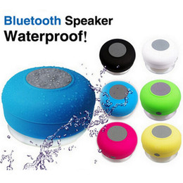 Wholesale Cheap Laptop Minis Prices - Cheap Price Mini Portable Water Proof Wireless Bluetooth2.1 Speaker and Suck Cap Shower Room android apple laptop music battery Subwoofer