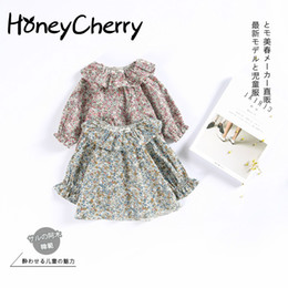 Wholesale Dolls Coats - 2017 Children Retro Lace Collar Sweater Coat Small Suihua Doll Baby Shirt Children Girl Top Blouse Kids Infant Blouse