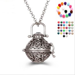 Wholesale Magic Pearls - Magic box bell pearl accessories Disffuser Dolphins Necklace Locket Essential Oil Diffuser Necklaces Hollow out Locket Cage Pendant Necklace