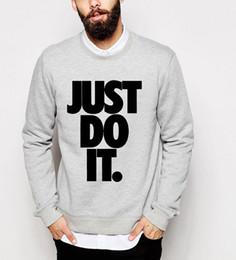 Wholesale Wholesale Streetwear Sweatshirts - Wholesale-Just Do It print 2016 hot sale new autumn winter fashion sweatshirt hoodies hip hop style tracksuit casual funny top loose brand