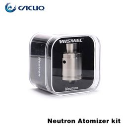 Wholesale Flow Technology - Wismec Neutron RDA Tank with Clapton Coil Wide Open Wicking System Precise Top Airflow Control Vortex Flow Technology Conical Top Cap