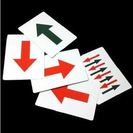 Wholesale Magic Cards Flash - Wholesale- Free shipping Amazing Arrow Card Set close up magic,stage magic fun easy to do