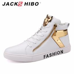 Wholesale Rubber Hip Boots Men - Wholesale- JACKSHIBO 2016 Autumn Winter brand mens low top boots,fashion zipper man hip hop street shoes,white popular Sequins flats boots