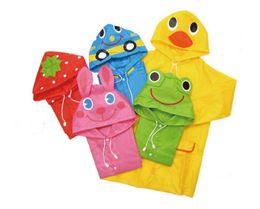 Wholesale Waterproof Hooded Poncho - 5 design Children's Animal Model Raincoat New Kids rabbit frog Rain Coat Boy's Girls Rain Cape Waterproof Coats Poncho JC316