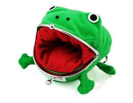 Wholesale Frog Models - Wholesale- New Arrival Cartoon Lovely Frog Wallet Anime Coin Purse Cartoon Frog Model Women Pocket Money Bag Free Shipping