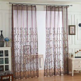 Wholesale Side Shade - Baroque-style luxury gauze curtains The new pattern flower embroidered shade sheer curtains living room sitting room The NEW 2017
