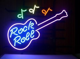 Wholesale Rock Roll Signed - 17''X14'' Rock Roll Music Light Neon Sign Store Display Club Bar Sign Real Neon