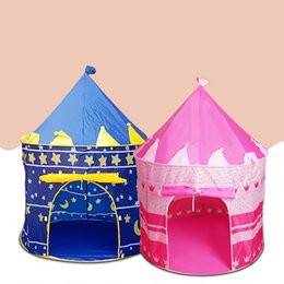Wholesale Red Castle Games - ndoor children tents game house toys house yurts princess prince castle house crawling,4 color free shipping