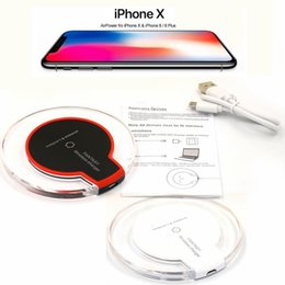 Wholesale Solar Car Chargers - For Iphone X Luxury Qi Wireless Charger Charging For Samsung S6 Edge s7 edge s8 plus iphone 8 X Fantasy High Efficiency pad with package