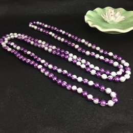 Wholesale Beautiful Women Photos - 2017 New Fashion Beautiful Double-color 1.5m Long Beaded Pearl Necklace For Baby Photo Props Sweater Chain For Women Two-color