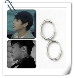 Wholesale Wholesale Gd - Hot Korean BigBang GD BTS silver earring nails stainless steel Anti-Allergy man woman circle 4 sizes party wedding daily life free shipping