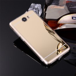 """Wholesale Mirrored Rose Compact - Wholesale- Luxury Y6 2 Compact Rose Gold Soft TPU Mirror Case For Huawei Y5 2 ii LYO-L21 Honor 5A Russian Version 5.0"""" Phone Back Cover"""