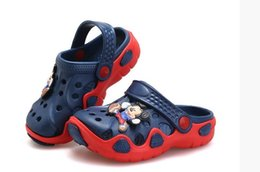 Wholesale Holes Girls Shoes - Kids Sandals For Girls Summer Shoes Rubber Child Sandals Slippers Hole Shoes Boys Girl Beach Summer Sandals