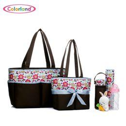 Wholesale Maternity Nursing Set - Wholesale-5 pieces set Large capacity Nappy Tote Hobos maternity Nursing baby bag set Mothers sorting bag set 5 in 1 BB640