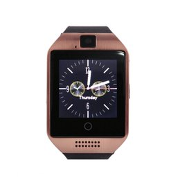 Wholesale Golden Connections - HOT Bluetooth Q18 Smart Watch Smart watches For Android Phone with Camera Q18 Support TF Card Connection with Retail Package from kindboy
