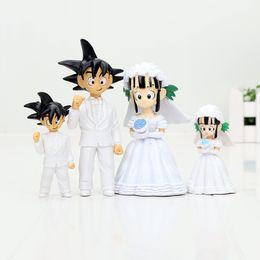 Wholesale Dragon Ball Chichi - 2Pcs Set 7.5cm   11cm Dragon Ball Z Son Goku Chichi Wedding PVC Action Figure Toys