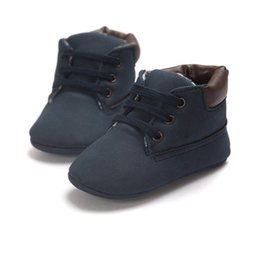 Wholesale Baby Firstwalker - Wholesale- Brand New Winter Warm Baby Boy Girl Ankle Boots Toddler Lace-Up Crib Shoes Anti-slip Sneakers Firstwalker 0-18M LT01
