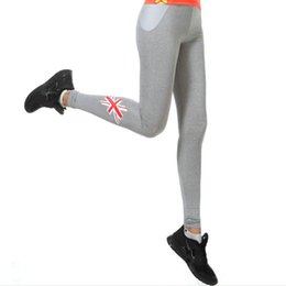 Wholesale Union Jacks Pants - Union Jack pants Wicking tight Air permeability Women gym clothing Flag sport wear Hot training sportwear Exercise trousers