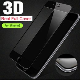 Filme completo móvel on-line-Para o iphone 7 3D borda curva cobertura completa protetor de tela de vidro temperado telefone móvel filme protetor para iphone 6 s plus