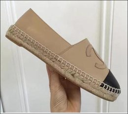 Wholesale Designer Career Dresses - Women Genuine Leather Espadrilles Brand Designer Fashion Flats Loafers Shoes Woman high quality Casual Shoes free shipping