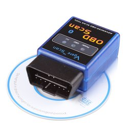 Wholesale Bluetooth Obd Seat - A+Quality Hardware V1.5 Stable Function OBD SCAN ELM327 Bluetooth MINI Vgate Multi-Language Works Multi-Cars ELM 327 Wireless