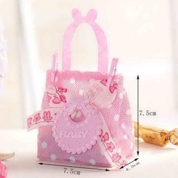 Wholesale Baby Personalities - 24Pcs lot Pink Personality Candy Holder Favor Box for Baby Shower Party Decoration Gift Bags