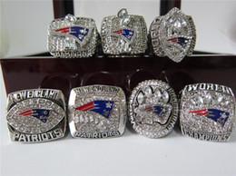 Wholesale England Patriots - New Arrive England 2001 2003 2004 2007 2011 2014 2016 Patriots World Super Bowl Championship Ring Tom BRADY 1 Set Fan Men Gift Wholesale