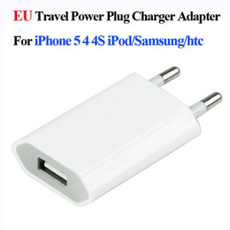 Wholesale Usb Power Dock - Universal EU US Plug 5V 1A USB Wall Charger AC Power Adapter for iPhone 4 4S 5 5G iPad mini iPod Samsung Note 4 3 HTC Cell Phone