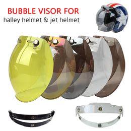 Wholesale Casco Vintage - Hot Sales Bubble Motorcycle Helmet Visor Jet Retro Hallar Casco Mask Vintage Helmet Bubble Visor Lens Helmet Accessories BV01
