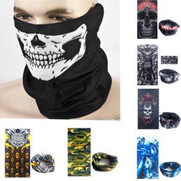 Wholesale Bandana Cycling - Multifunction bandana outdoor sports ski motorbike cycling face mask scarf windproof neck warmer hood skull face masks