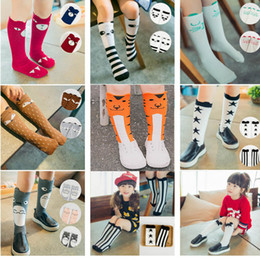 calzini natalizi del natale del bambino Sconti Baby Cotton Fox Stocking Socks Kids Newborn Girls Leg Warm Knee Long Socks Striped Chevron Star Dot Socks Christmas Gifts PX-S14