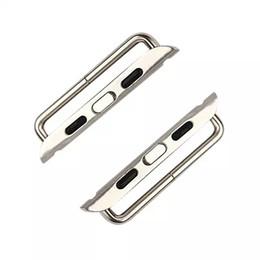 Reloj de metal online-Un par de conector de adaptador de banda de metal para Apple Watch serie 4 3 2 1 iWatch 38mm 42mm 40mm 44mm WatchBand 10 Par / lote Destornillador