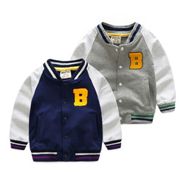 Wholesale Zip Up Hoodie Shirt - Kids Boy Long Sleeve Zip-Up Sweater shirts Kids Stripe Coat Clothes Fall Outfits Jackets Hoodies Drop Shipping