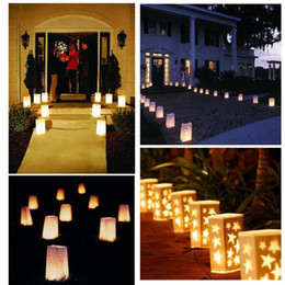 Wholesale Christmas Luminaries - 500PCS Fireproof Paper Candle Bags for wedding birthday party christmas  valentine's day,Luminary candle bags
