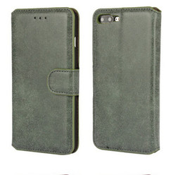 Wholesale Plastic Id Pouch - Vintage Retro Leather Wallet Phone Case With ID Card Holder Magnetic PU Flip Stand Cover for Huawei mate 8