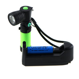 Wholesale Cree Magnetic - Tactical Portable Mini Cree Q5 1000 LM LED Flashlight Work Light lamp Torch Lanterns With Magnetic + 14500 Battery + EU Charger